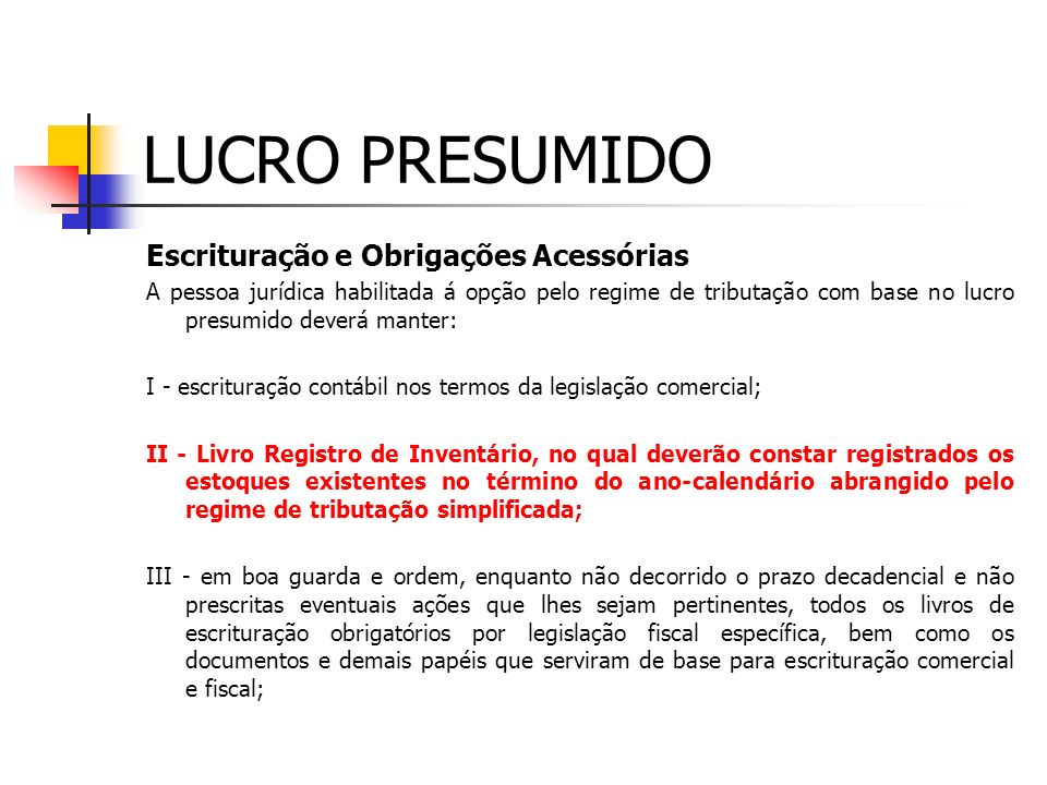 LUCRO PRESUMIDO POSTO DE GASOLINA CONTAS RECEITA 1 TRIM IRPJ CSLL % BASE % BASE Revenda Combustível 2.000.000 1,6 32.000 12,00 240.000 Mercadorias 150