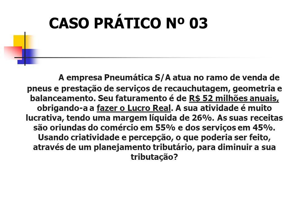 RESOLUÇÃO CASO PRÁTICO Nº 02 MUDANÇA DO RAMO DE ATIVIDADE DE PRESTAÇÃO DE SERVIÇOS DE GUINCHO PARA ATIVIDADE DE TRANSPORTE DE CARGAS– DE 32% PARA 8% N
