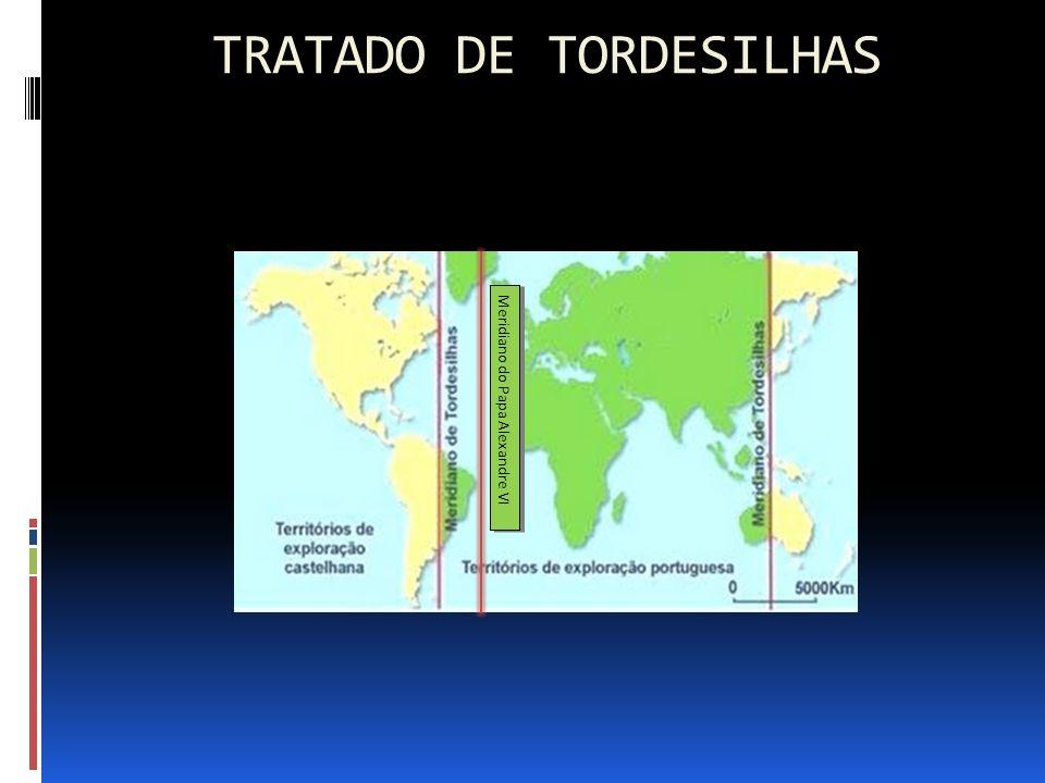 TRATADO DE TORDESILHAS Meridiano do Papa Alexandre VI