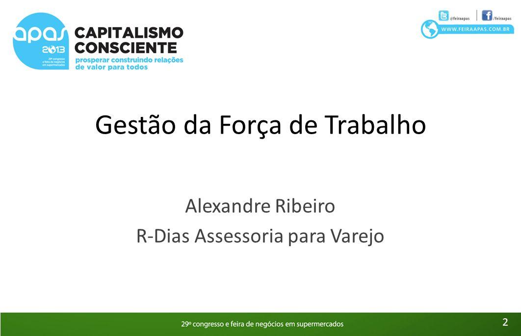 Gestão da Força de Trabalho Alexandre Ribeiro R-Dias Assessoria para Varejo 2