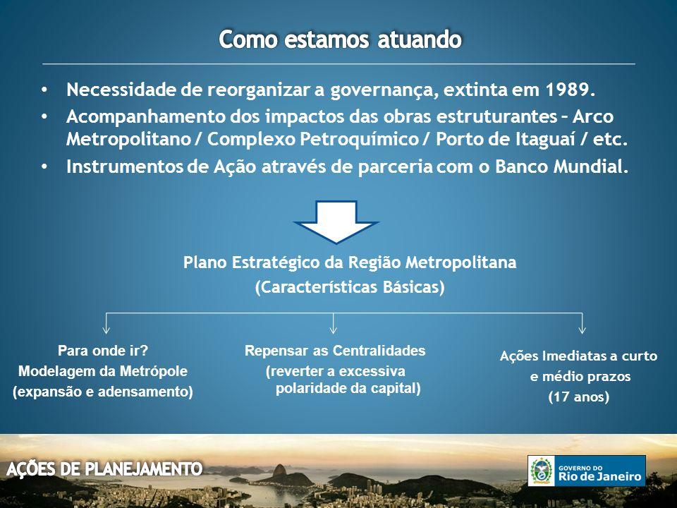 Necessidade de reorganizar a governança, extinta em 1989.