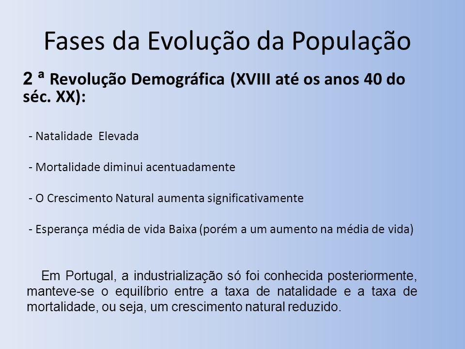 2 ª Revolução Demográfica (XVIII até os anos 40 do séc.