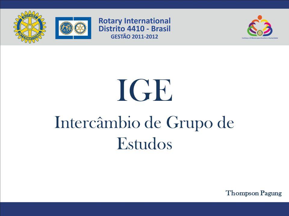 IGE Intercâmbio de Grupo de Estudos Thompson Pagung