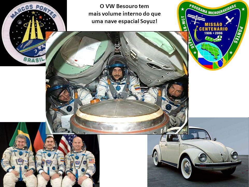 O VW Besouro tem mais volume interno do que uma nave espacial Soyuz!