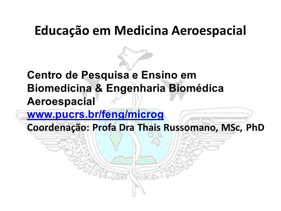 Educação em Medicina Aeroespacial Centro de Pesquisa e Ensino em Biomedicina & Engenharia Biomédica Aeroespacial www.pucrs.br/feng/microg Coordenação: