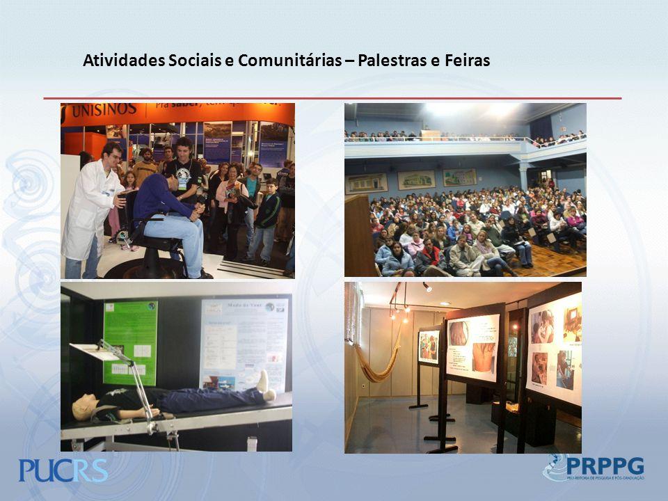 Atividades Sociais e Comunitárias – Palestras e Feiras