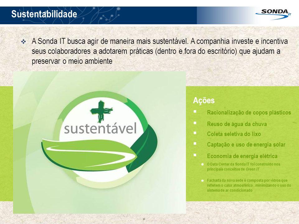 7 Sustentabilidade 7 Ações Racionalização de copos plásticos Reuso de água da chuva Coleta seletiva do lixo Captação e uso de energia solar Economia d