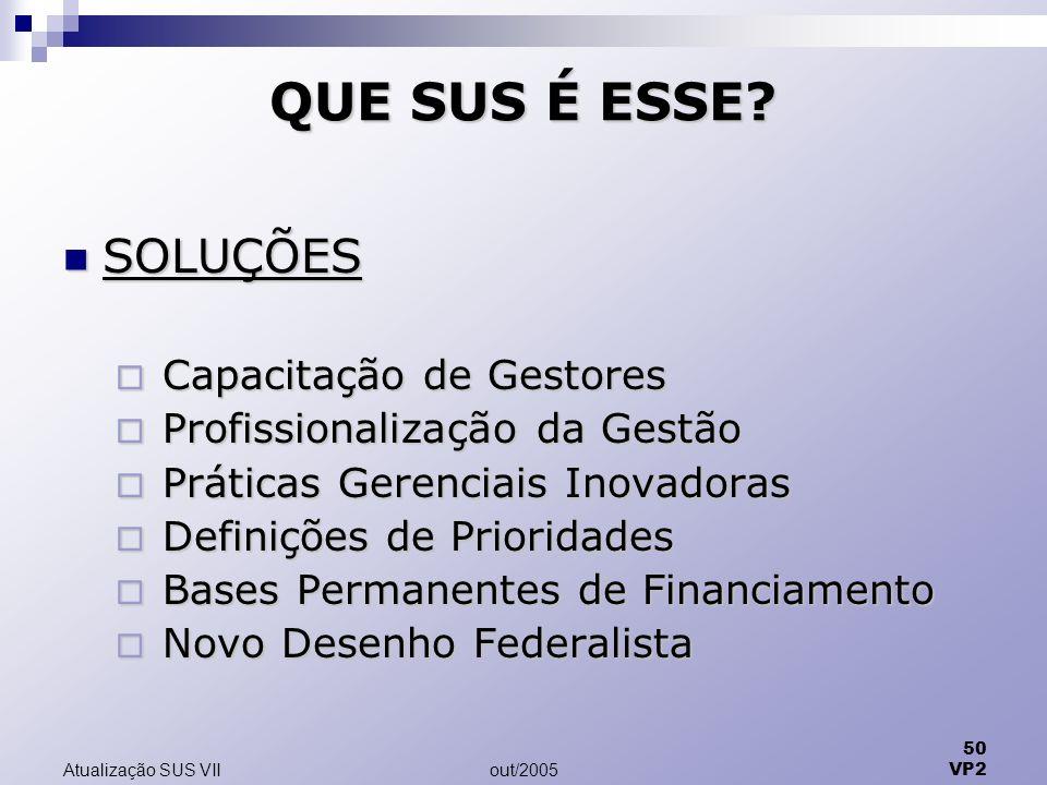 out/2005 50 VP2 Atualização SUS VII QUE SUS É ESSE.