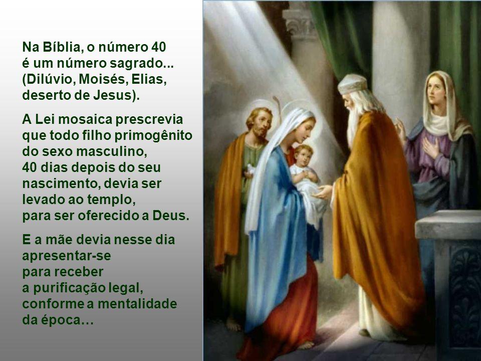 Há aproximadamente 40 dias do Natal, a Liturgia de hoje nos convida a celebrar um acontecimento da vida do menino Jesus: a Apresentação ao Senhor (Antigamente a purificação de Nossa Senhora).