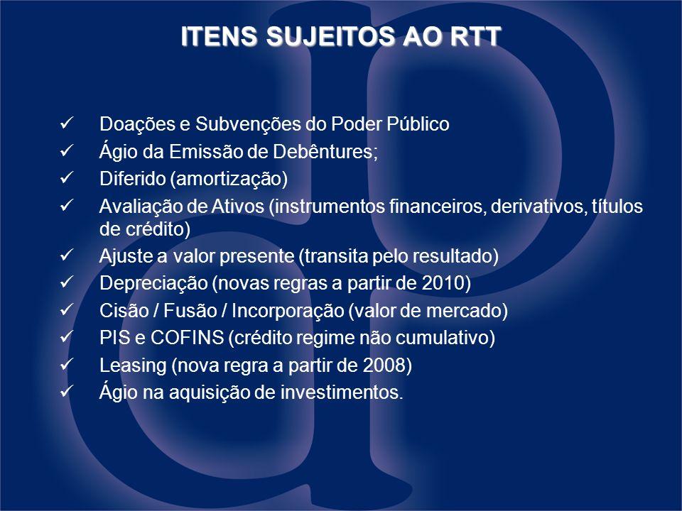 Doações e Subvenções do Poder Público Ágio da Emissão de Debêntures; Diferido (amortização) Avaliação de Ativos (instrumentos financeiros, derivativos