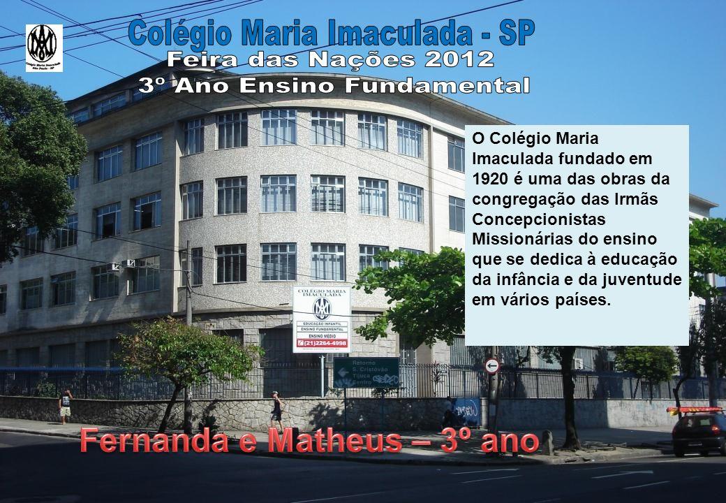 O Colégio Maria Imaculada fundado em 1920 é uma das obras da congregação das Irmãs Concepcionistas Missionárias do ensino que se dedica à educação da infância e da juventude em vários países.