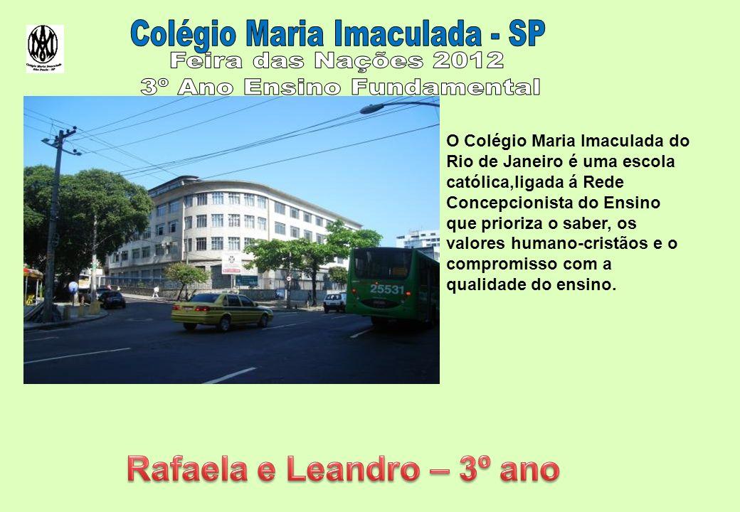 O Colégio Maria Imaculada do Rio de Janeiro é uma escola católica,ligada á Rede Concepcionista do Ensino que prioriza o saber, os valores humano-cristãos e o compromisso com a qualidade do ensino.