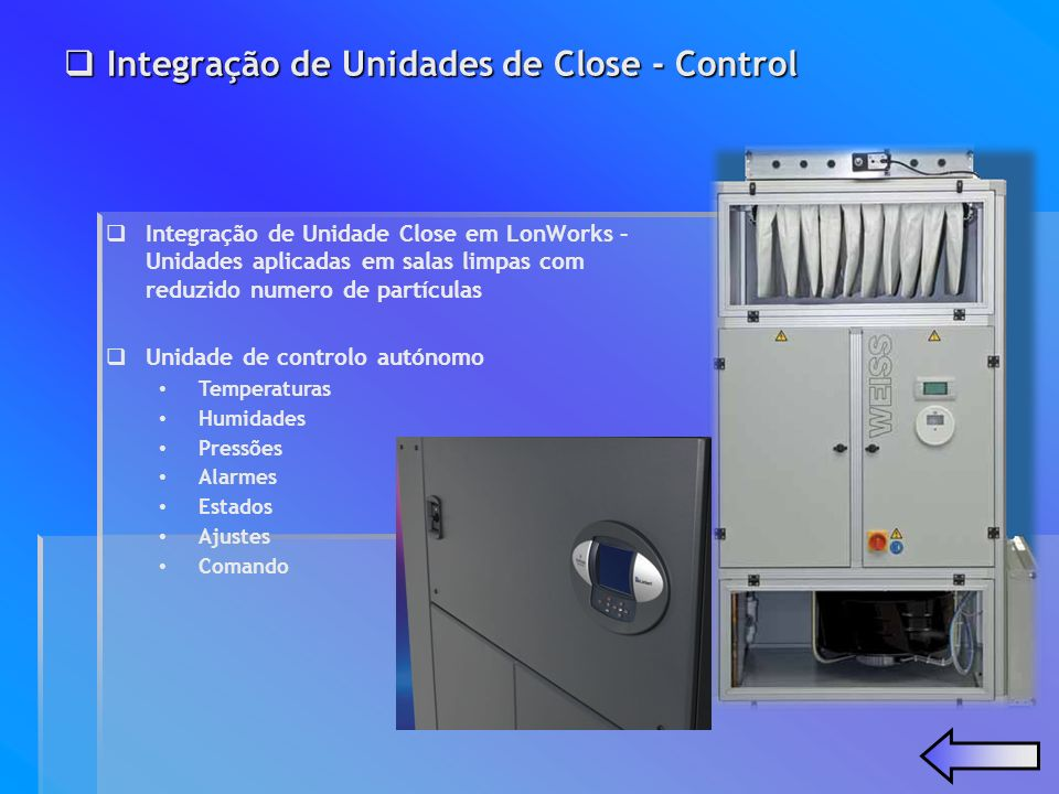 Integração de Unidades de Close - Control Integração de Unidades de Close - Control Integração de Unidade Close em LonWorks – Unidades aplicadas em sa