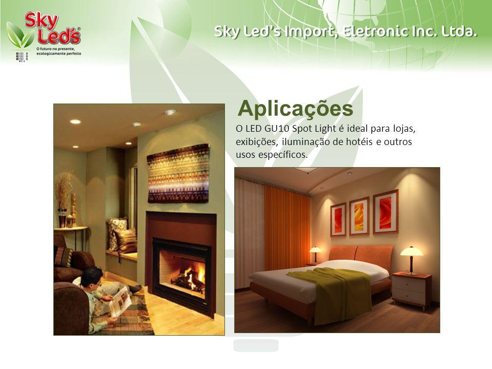 Aplicações O LED GU10 Spot Light é ideal para lojas, exibições, iluminação de hotéis e outros usos específicos.