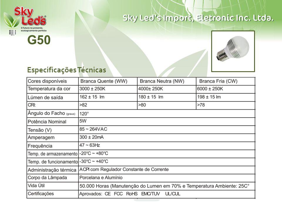 G50 Especificações Técnicas