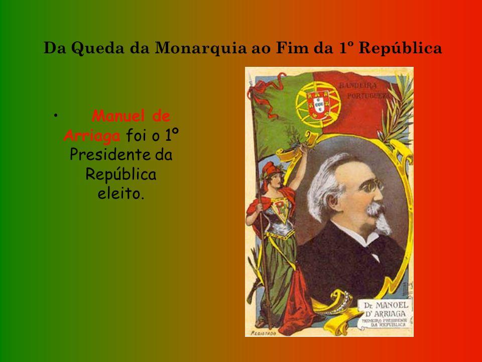 Da Queda da Monarquia ao Fim da 1º República Realizaram-se eleições para a Assembleia Constituinte, a qual iria elaborar uma nova Constituição. A Cons