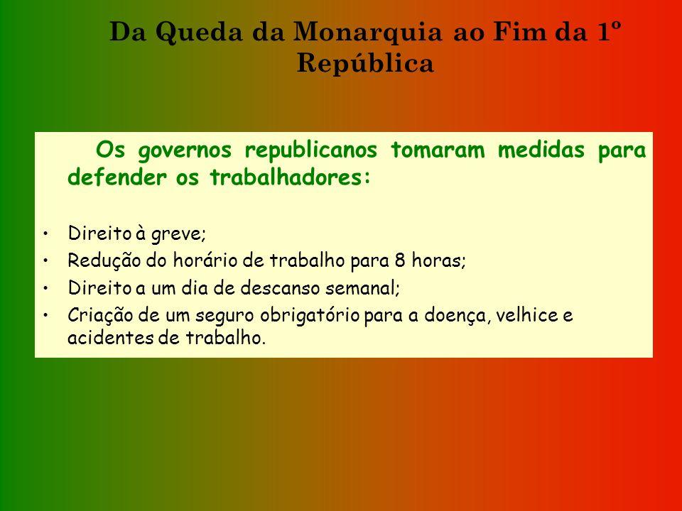 Os governos republicanos tomaram medidas para melhorar a instrução dos portugueses: Criaram o Ensino Infantil para crianças dos 4 aos 7 anos; Tornaram
