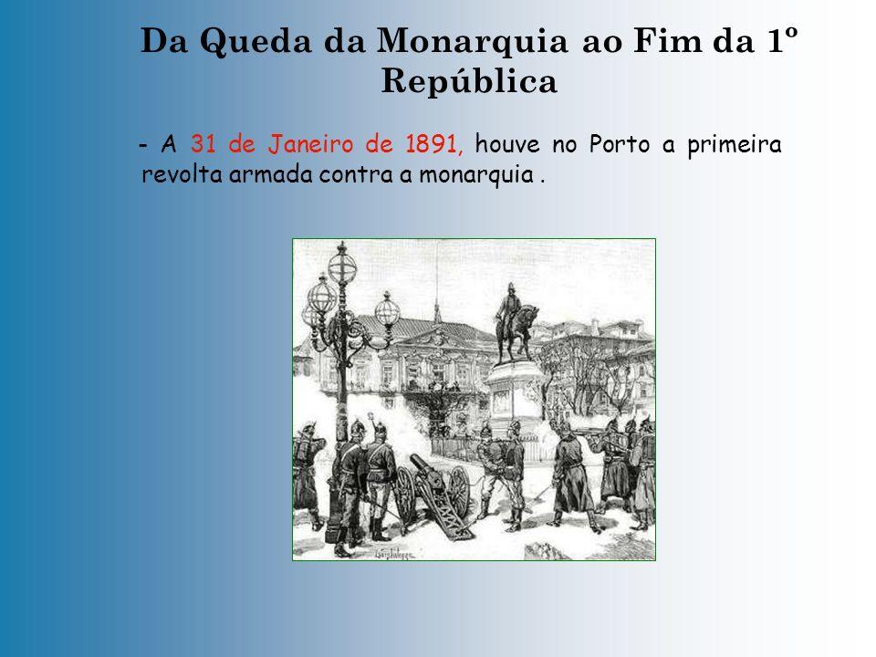 Da Queda da Monarquia ao Fim da 1º República. Em 1886, Portugal apresentou um mapa (Mapa cor-de-rosa), onde constavam os territórios a que se julgava