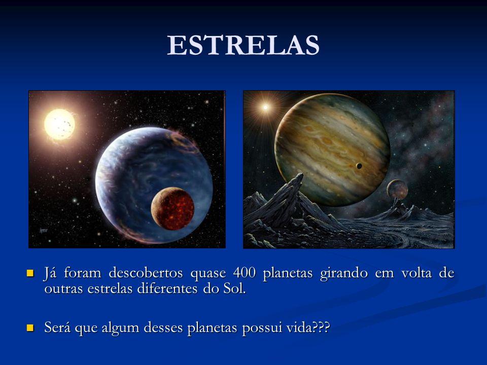 ESTRELAS Já foram descobertos quase 400 planetas girando em volta de outras estrelas diferentes do Sol. Já foram descobertos quase 400 planetas girand