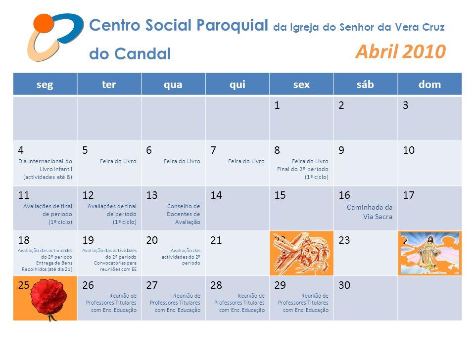 Centro Social Paroquial da Igreja do Senhor da Vera Cruz do Candal Abril 2010 segterquaquisexsábdom 123 4 Dia Internacional do Livro Infantil (activid