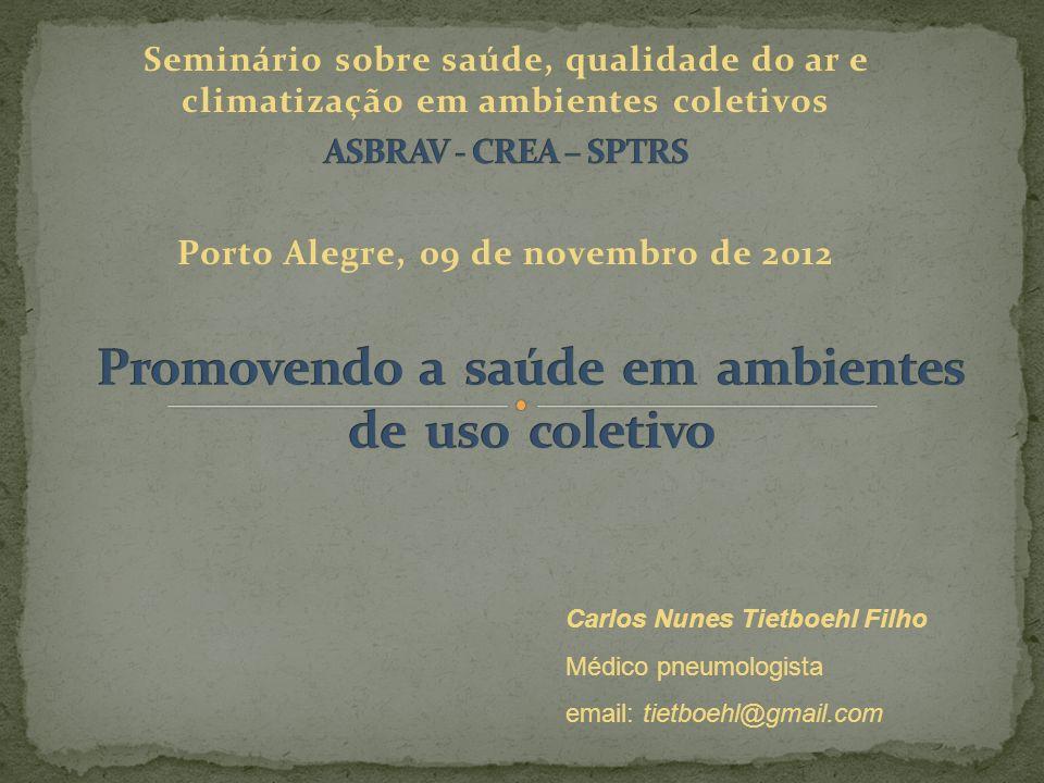 Carlos Nunes Tietboehl Filho Médico pneumologista email: tietboehl@gmail.com