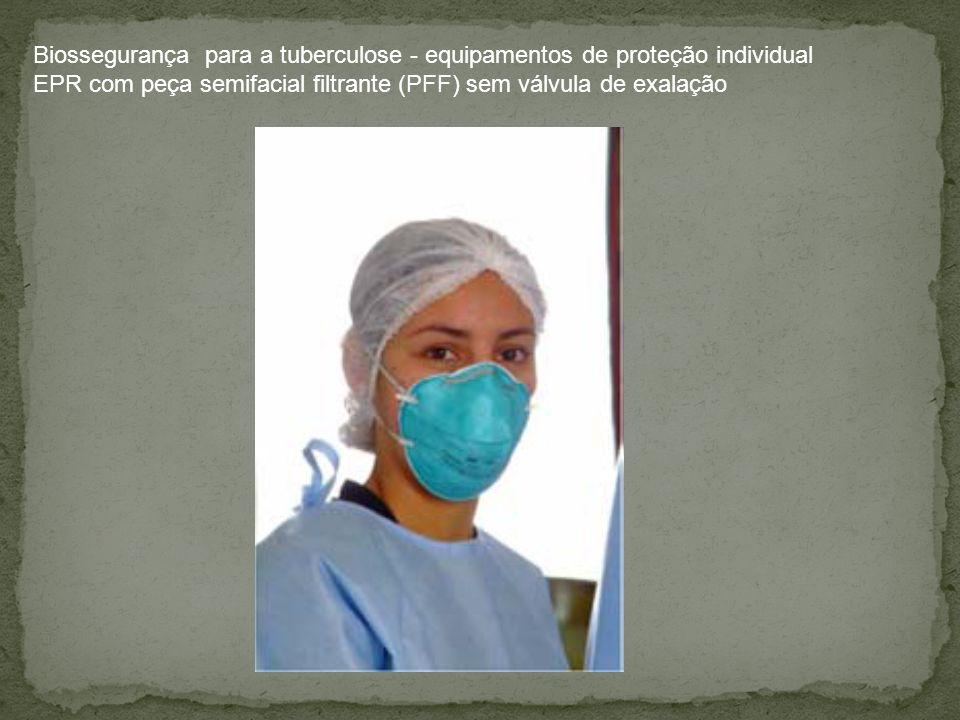Biossegurança para a tuberculose - equipamentos de proteção individual EPR com peça semifacial filtrante (PFF) sem válvula de exalação