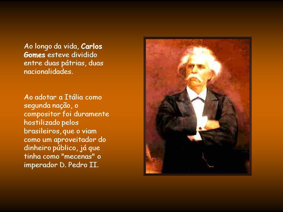 A partir desde momento, Carlos Gomes endividou- se, passou por grandes dificuldades financeiras, sofreu várias crises nervosas e viciou-se em ópio.