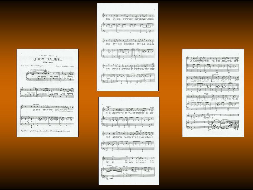 Missa de São Sebastião (1854) Bela Ninfa de Minh Alma (1857) A Alta Noite (1859) Hino Acadêmico (1859) Quem Sabe.
