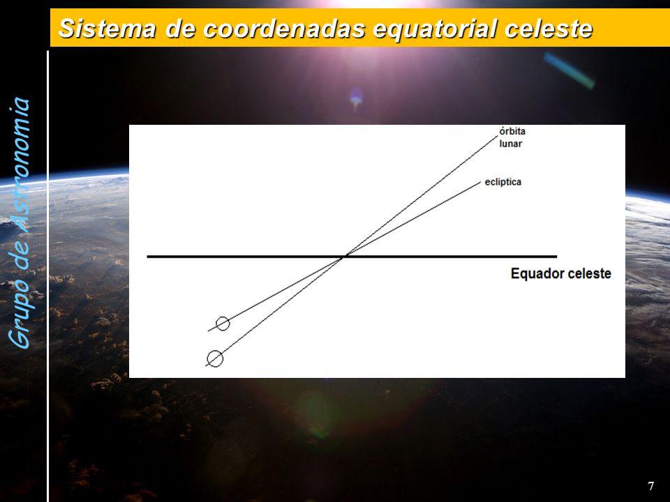 Grupo de Astronomia Sistema de coordenadas equatorial celeste 7