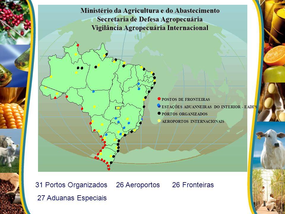 Ministério da Agricultura e do Abastecimento Secretaria de Defesa Agropecuária Vigilância Agropecuária Internacional POSTOS DE FRONTEIRAS ESTAÇÕES ADU