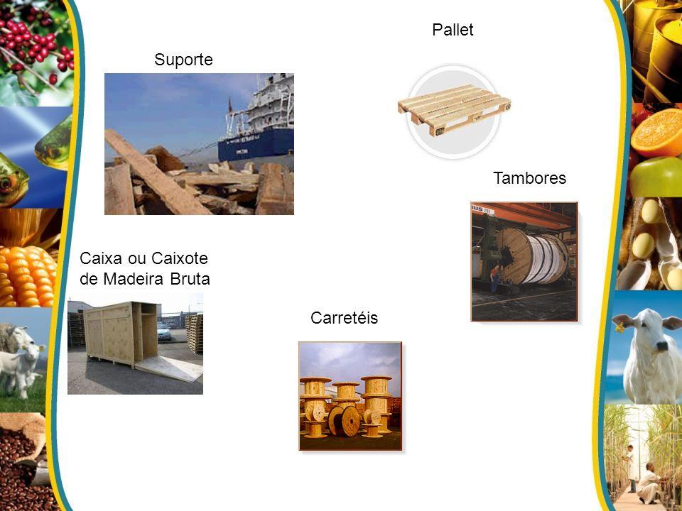 Suporte Pallet Caixa ou Caixote de Madeira Bruta Tambores Carretéis