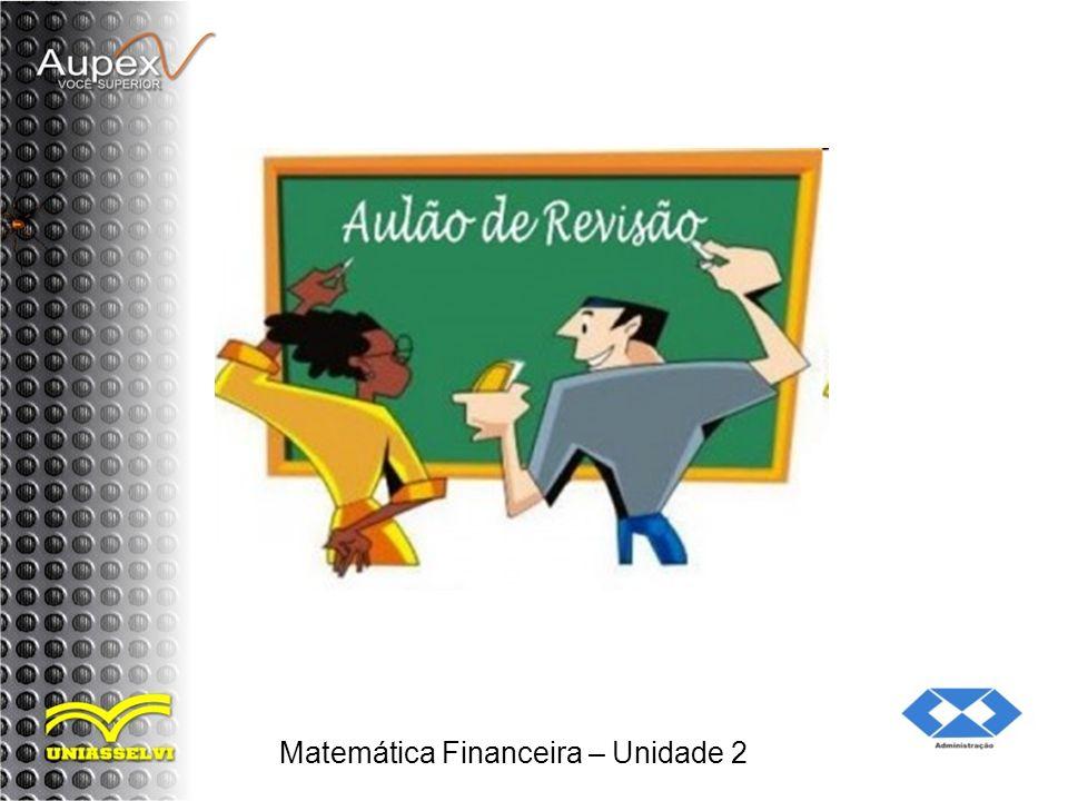 Matemática Financeira – Unidade 2