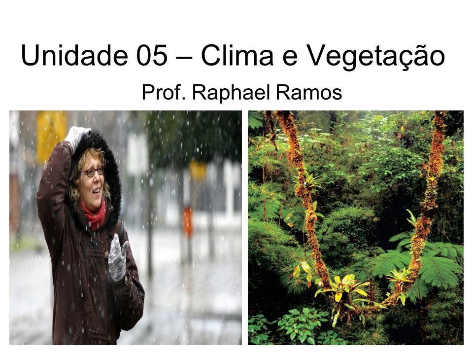 Unidade 05 – Clima e Vegetação Prof. Raphael Ramos