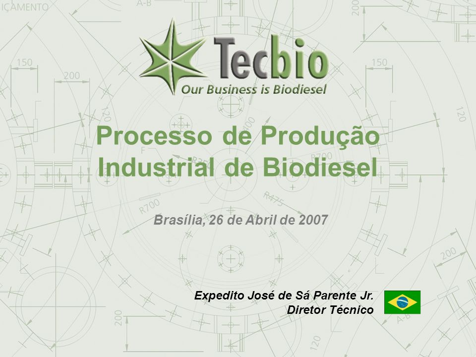 Biodiesel in the Plural 20 May, 20062006 Eastern Biofuel Conference Industrial Biodiesel System 100.000 ton/year – Client: Brasil Ecodiesel