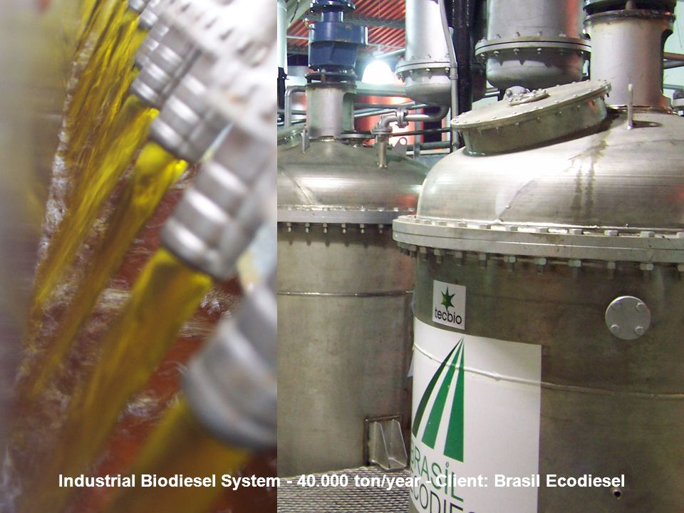 Biodiesel in the Plural 20 May, 20062006 Eastern Biofuel Conference Industrial Biodiesel System - 40.000 ton/year - Client: Brasil Ecodiesel