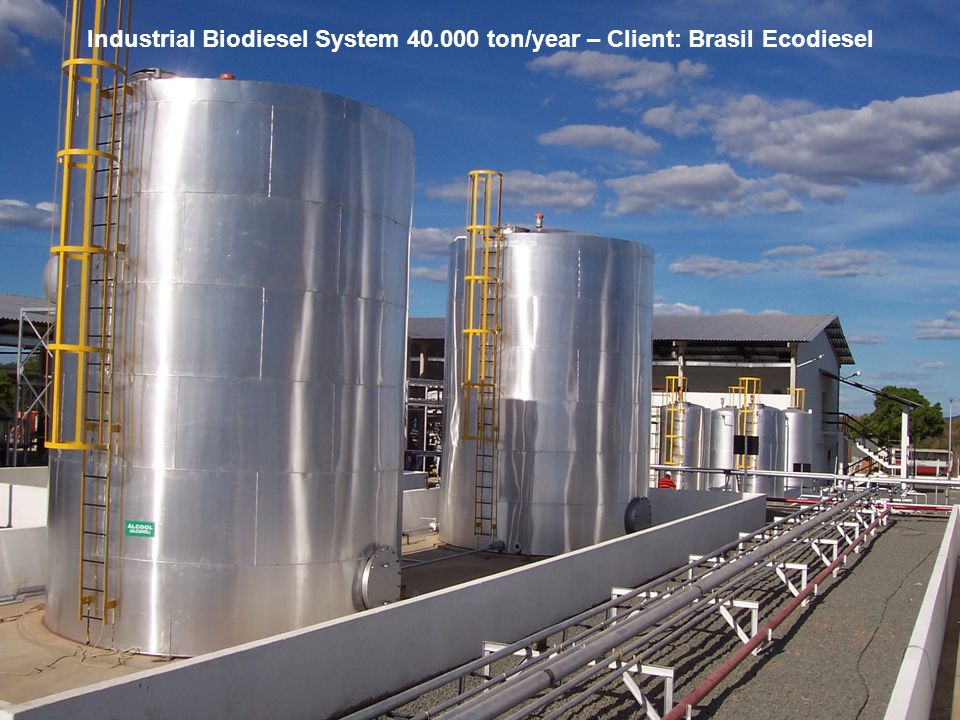 Biodiesel in the Plural 20 May, 20062006 Eastern Biofuel Conference Industrial Biodiesel System 40.000 ton/year – Client: Brasil Ecodiesel