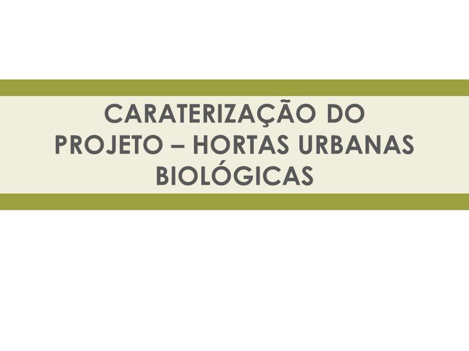 OBJETIVO O projeto das Hortas Urbanas Biológicas da Quinta Municipal da Piedade teve início em abril 2011 com a implementação de 40 talhões, com cerca de 40m 2 cada, em modo de produção biológico.