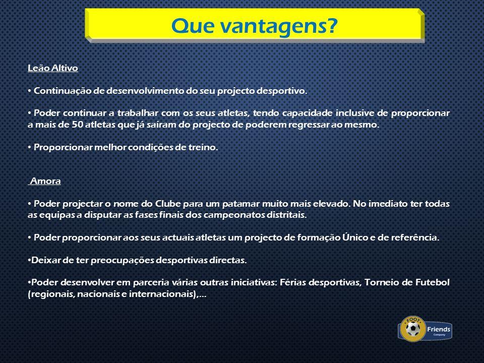 Leão Altivo Continuação de desenvolvimento do seu projecto desportivo. Poder continuar a trabalhar com os seus atletas, tendo capacidade inclusive de
