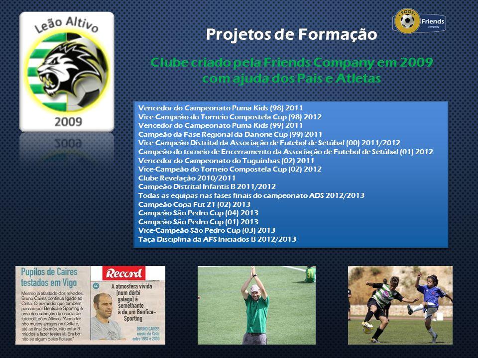 Clube criado pela Friends Company em 2009 com ajuda dos Pais e Atletas Vencedor do Campeonato Puma Kids (98) 2011 Vice-Campeão do Torneio Compostela C