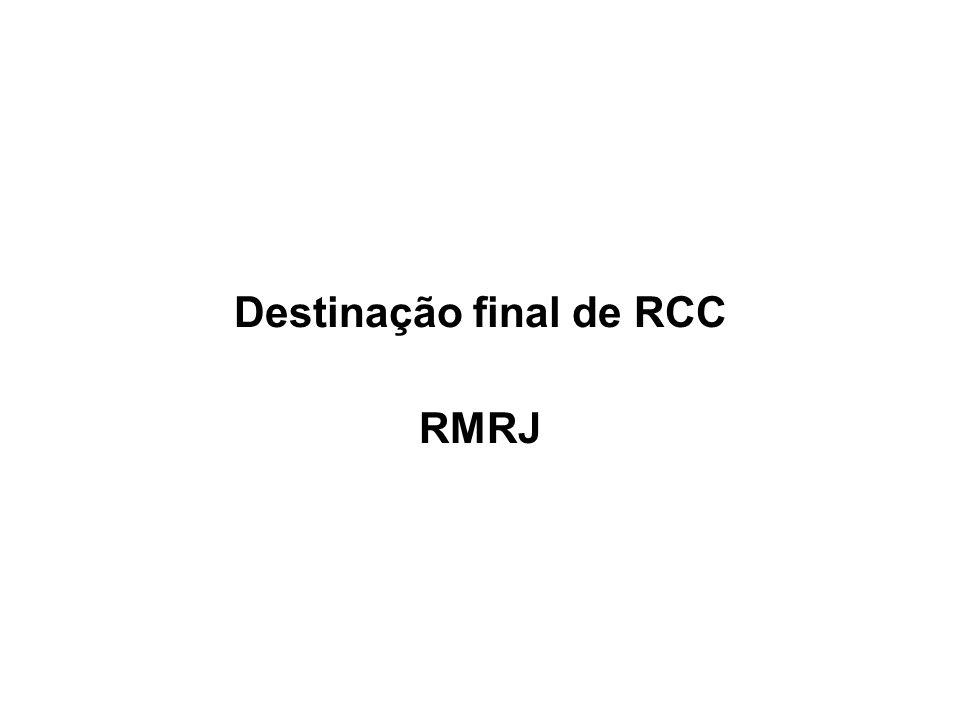 Destinação final de RCC RMRJ