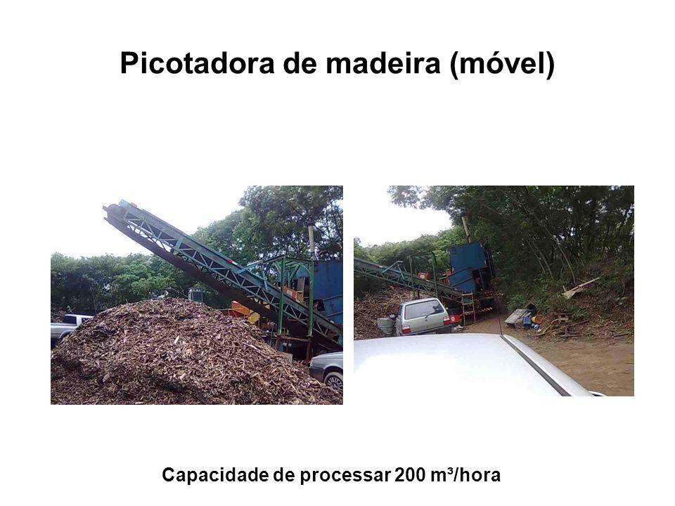 Picotadora de madeira (móvel) Capacidade de processar 200 m³/hora