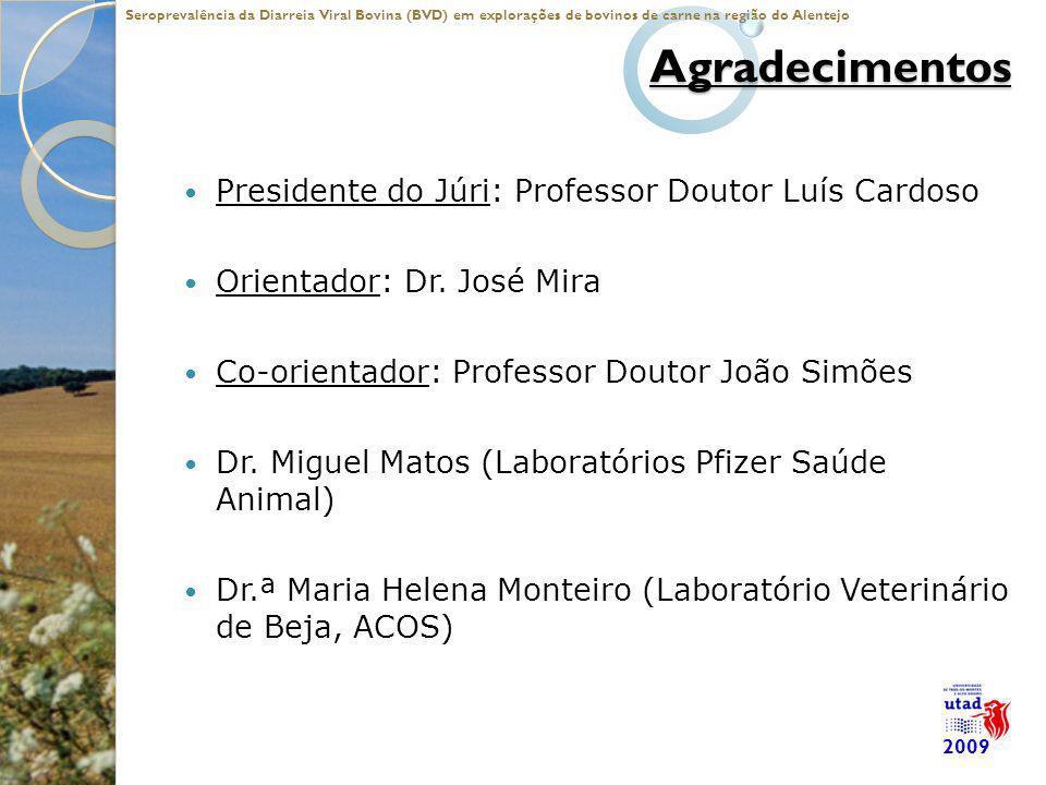 Agradecimentos Presidente do Júri: Professor Doutor Luís Cardoso Orientador: Dr. José Mira Co-orientador: Professor Doutor João Simões Dr. Miguel Mato