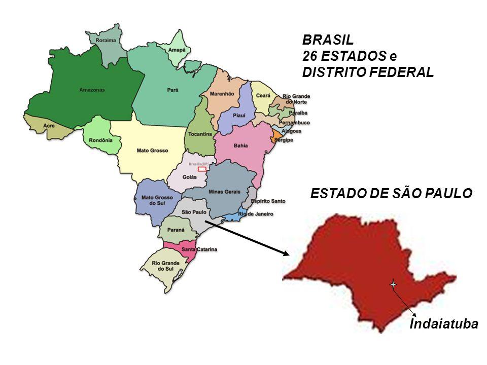 Área Territorial e População Área Territorial em Km² População – Habitantes América do Sul 17.850.568 357.000.000 Brasil 8.514.876 192.379.287 Estado SP 248.209 41.692.668 Indaiatuba 310207.556
