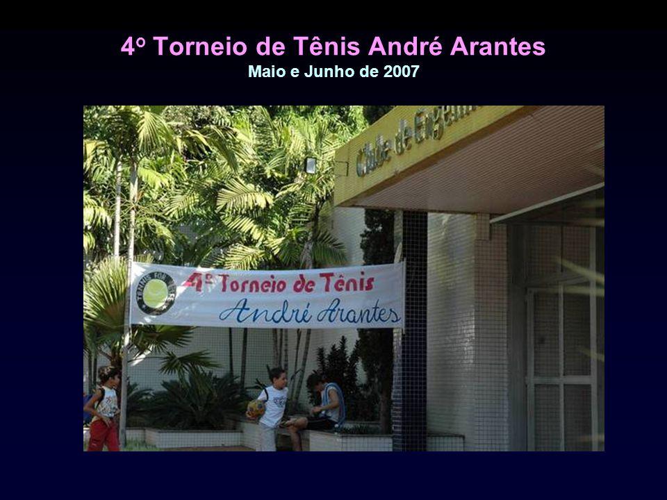 4 o Torneio de Tênis André Arantes Maio e Junho de 2007