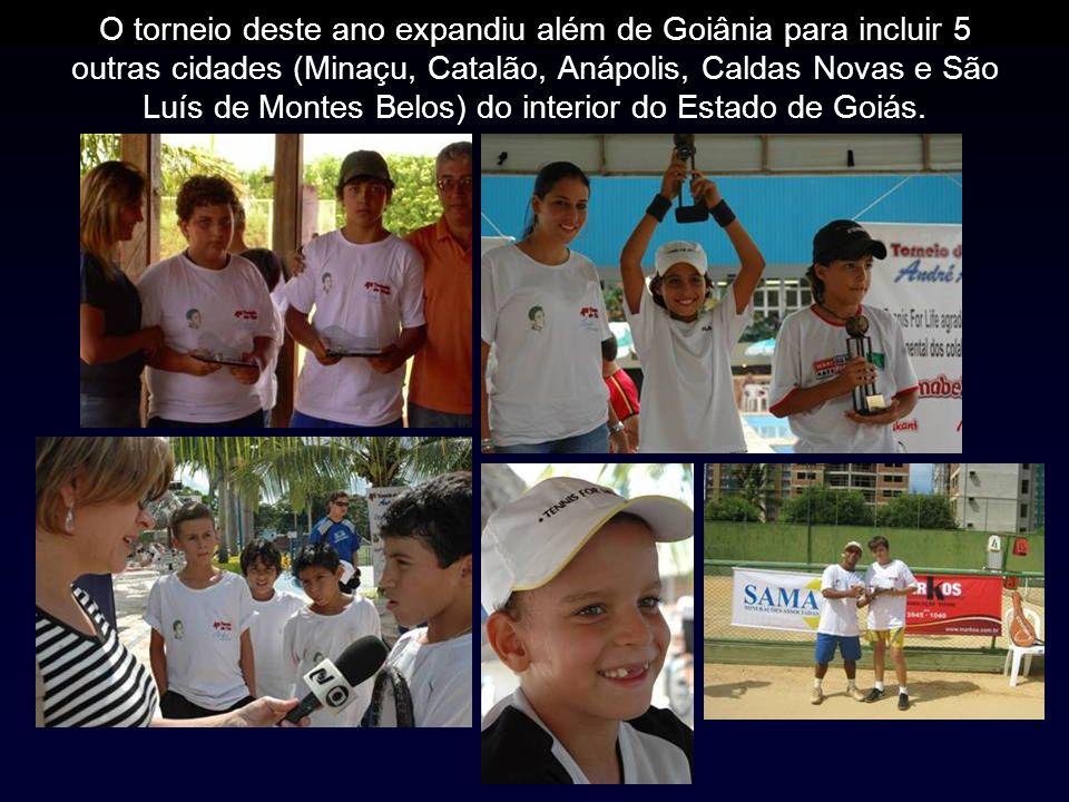O torneio deste ano expandiu além de Goiânia para incluir 5 outras cidades (Minaçu, Catalão, Anápolis, Caldas Novas e São Luís de Montes Belos) do interior do Estado de Goiás.