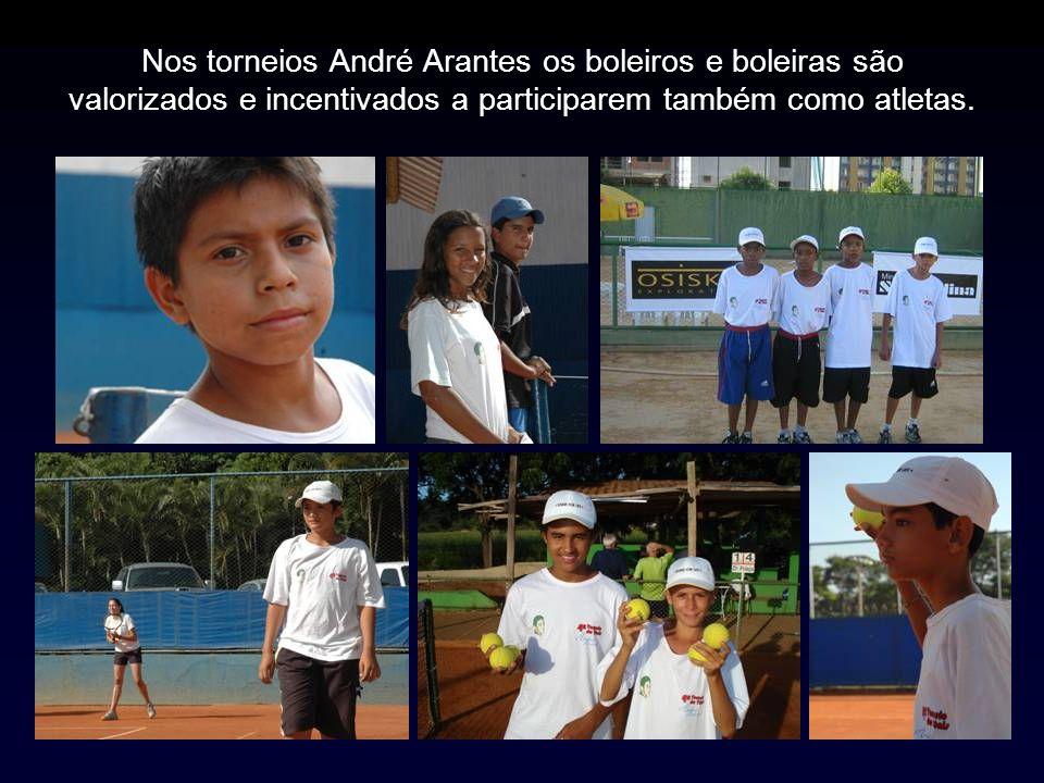 Nos torneios André Arantes os boleiros e boleiras são valorizados e incentivados a participarem também como atletas.