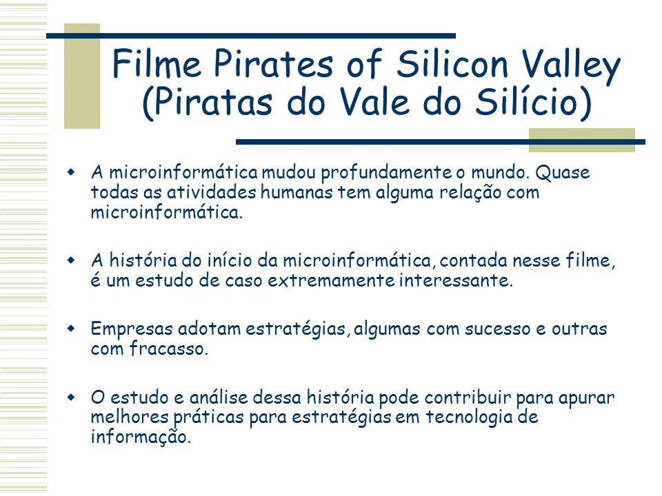 Filme Pirates of Silicon Valley (Piratas do Vale do Silício) A microinformática mudou profundamente o mundo. Quase todas as atividades humanas tem alg