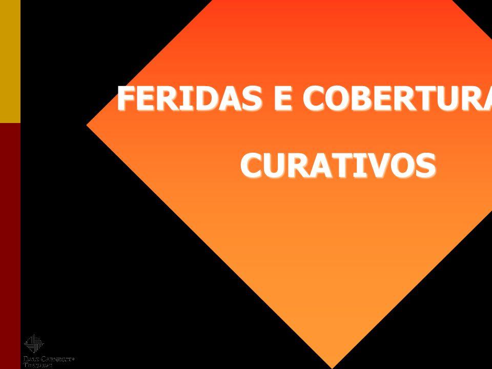 FERIDAS E COBERTURAS CURATIVOS FERIDAS E COBERTURAS CURATIVOS