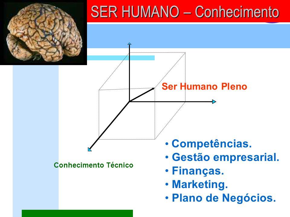 Conhecimento Técnico SER HUMANO – Conhecimento Ser Humano Pleno Competências. Gestão empresarial. Finanças. Marketing. Plano de Negócios.