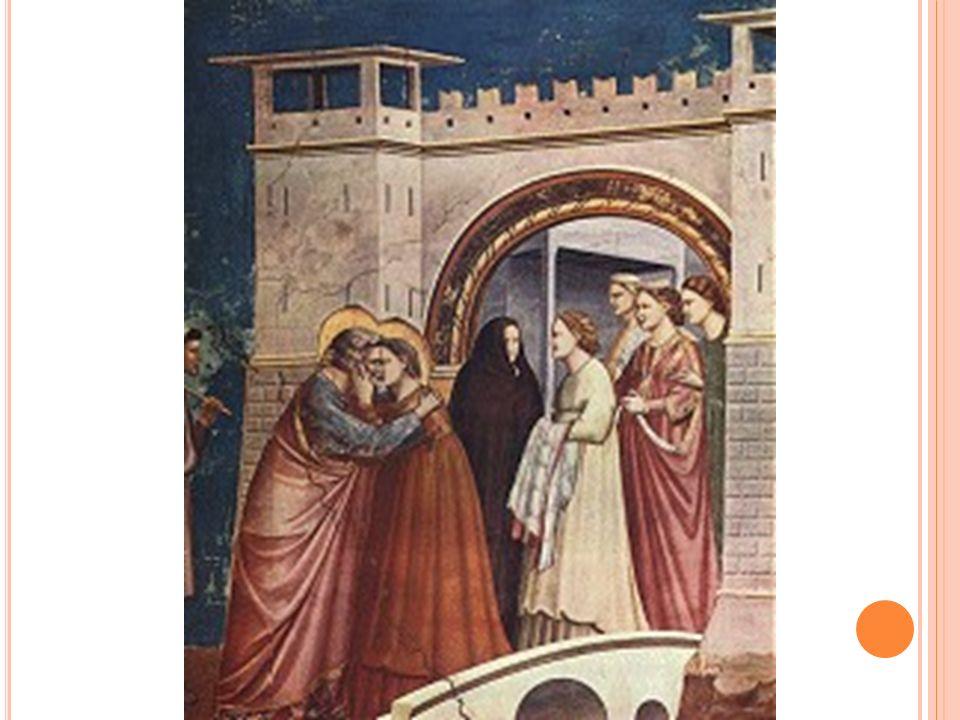 O ENCONTRO DE SÃO JOAQUIM E SANT ANA , fazem parte dos afrescos da capela de Scrovegni, na Arena de Pádua, e é considerada por unanimidade como o expoente máximo da maturidade artística de Giotto.